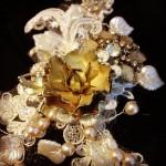 tiara lace bridal headpiece millinery hat harrietsteele wedding weddinghair vintage